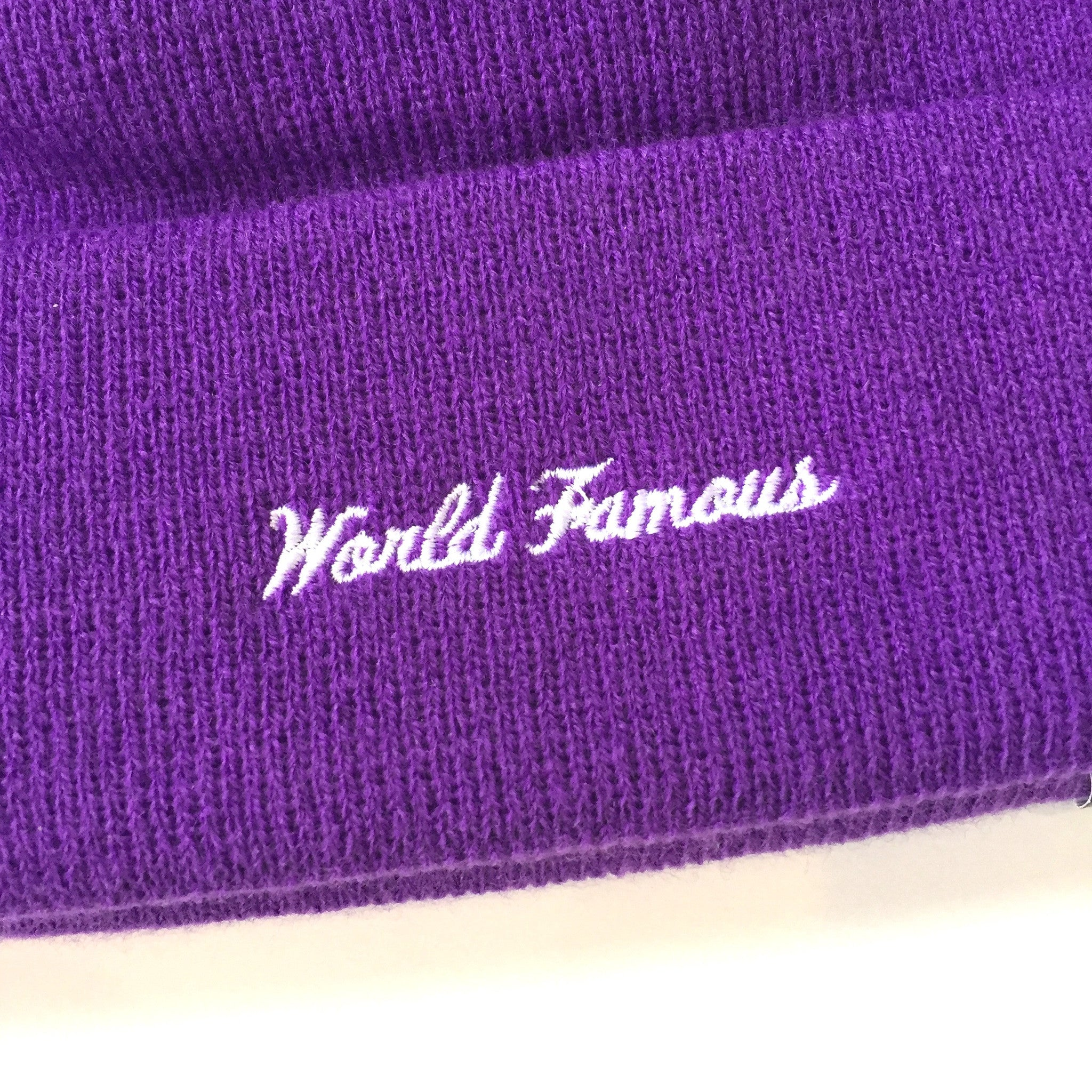 Supreme x New Era - Purple Box Logo Beanie