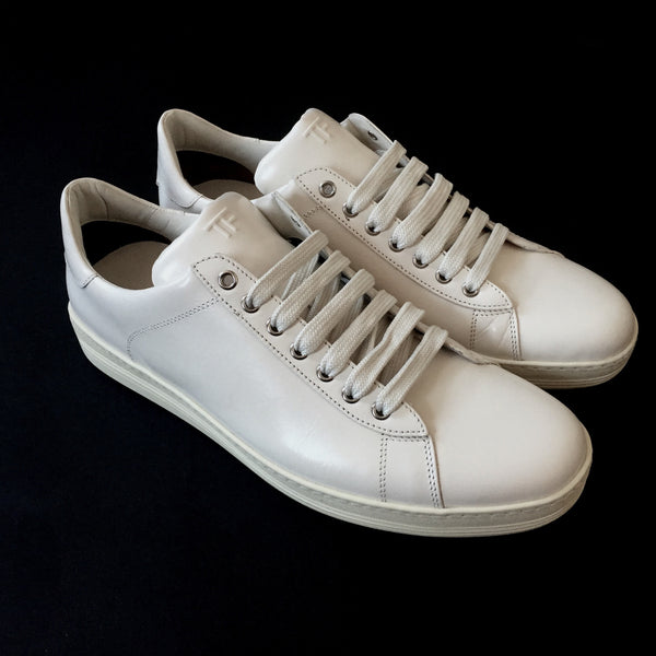 Tom Ford - White Leather Court Sneakers