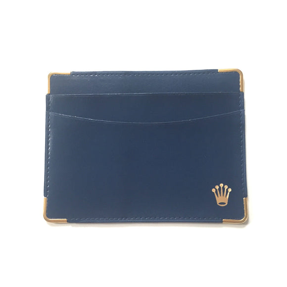 Rolex - Blue Leather Card Case