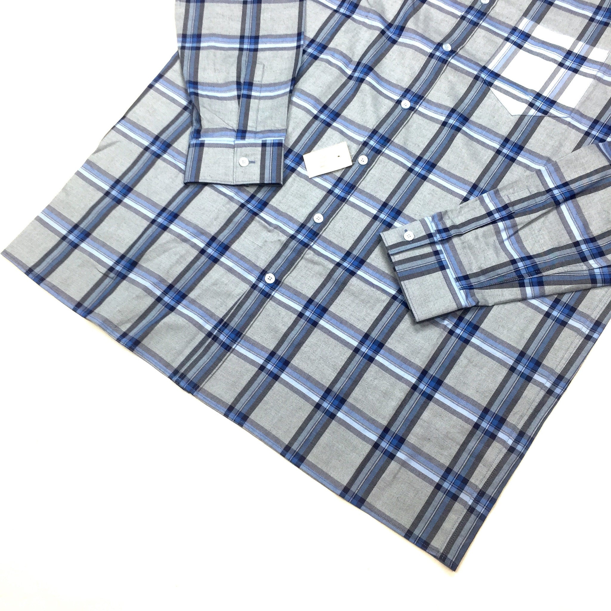 Givenchy - Light Blue Plaid Flannel Shirt