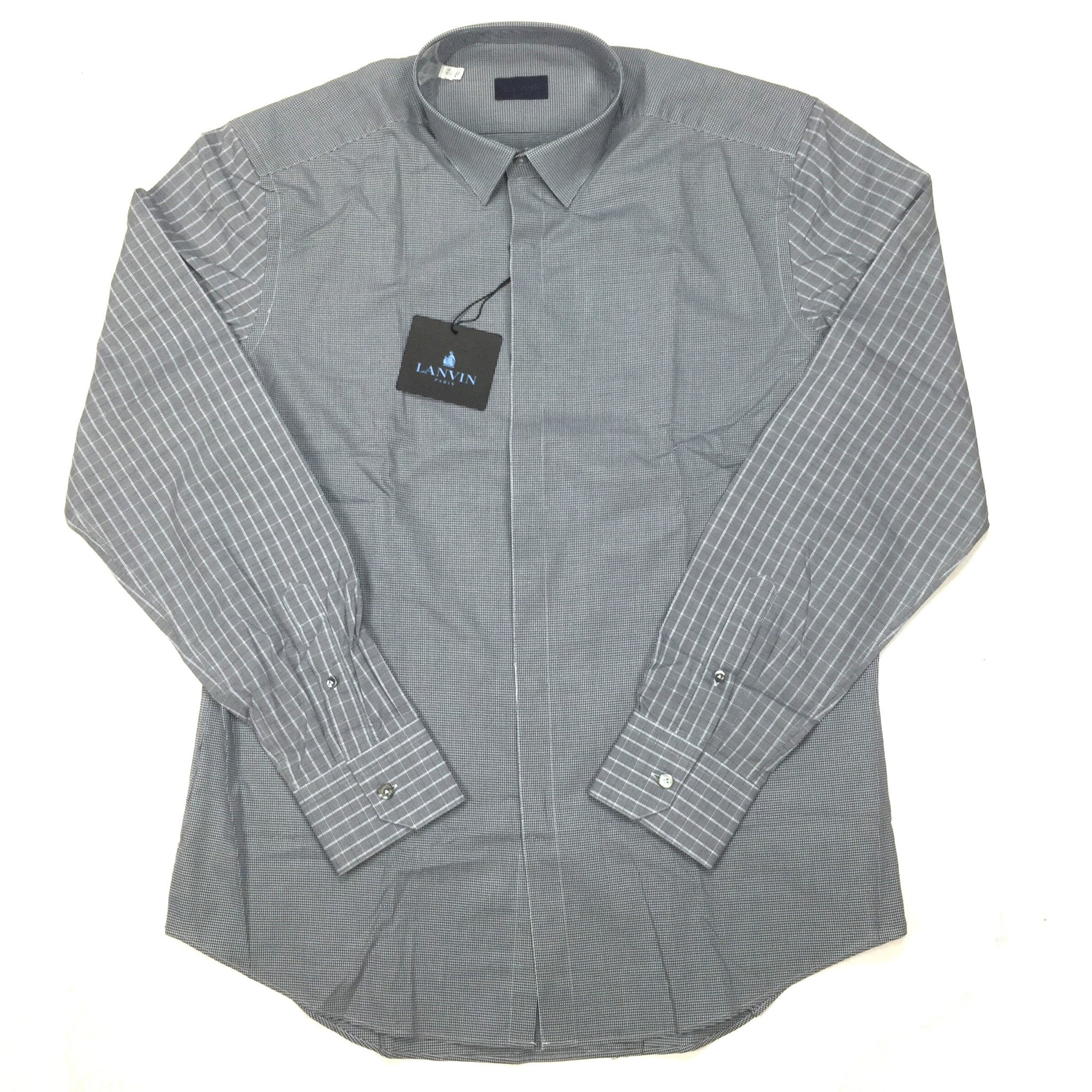 Lanvin - Multi Material Button Down Shirt