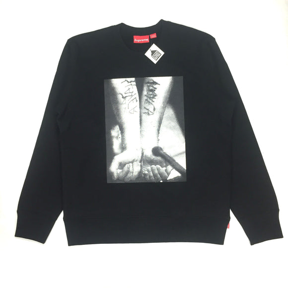 Supreme x Slayer - Black 'Cutter' Print Sweatshirt