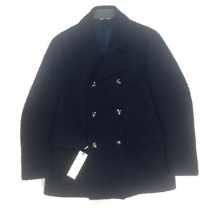 Corneliani - Navy Marled Wool Peacoat