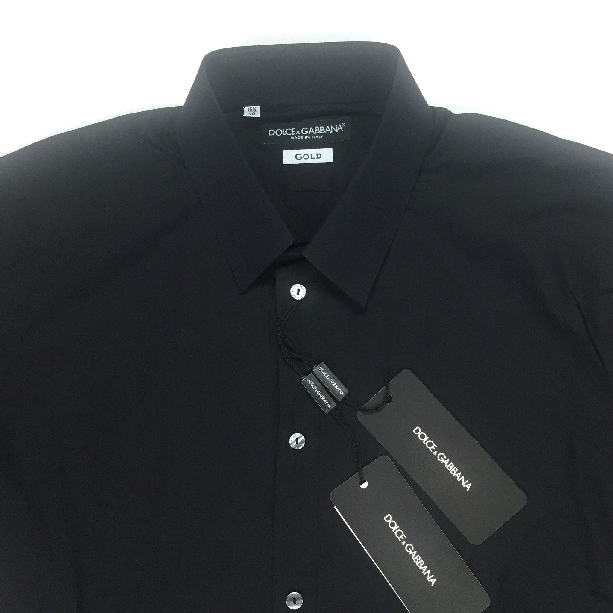 Dolce & Gabbana - Black Button Down Dress Shirt