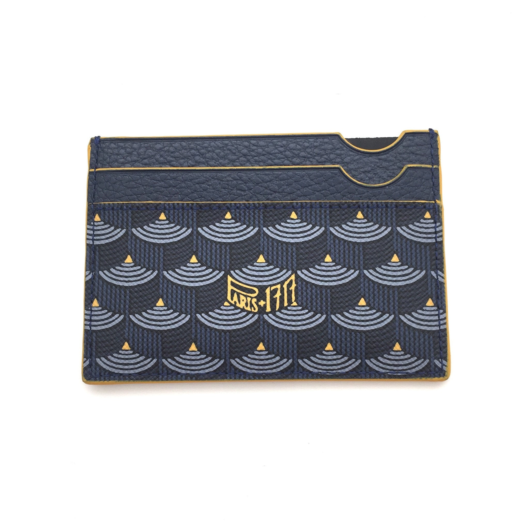Faure Le Page - Paris Blue / Yellow 4CC Card Holder
