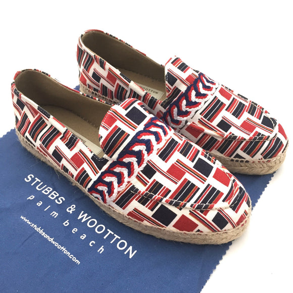 Black Fleece - Flag Print Espadrille Slip-On Shoes