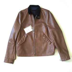Acne Studios - Brown Lambskin Leather Jacket