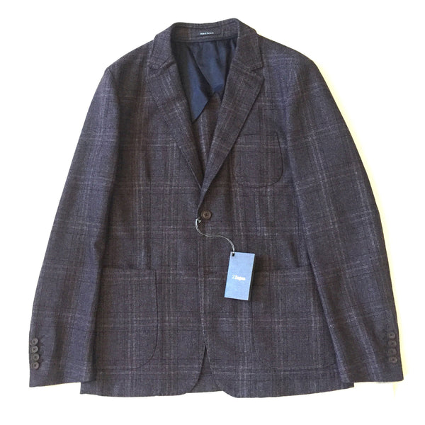 Zegna - Gray Plaid Sport Coat