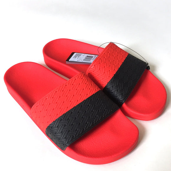 Adidas x Raf Simons - Red Adilette Slide Sandals