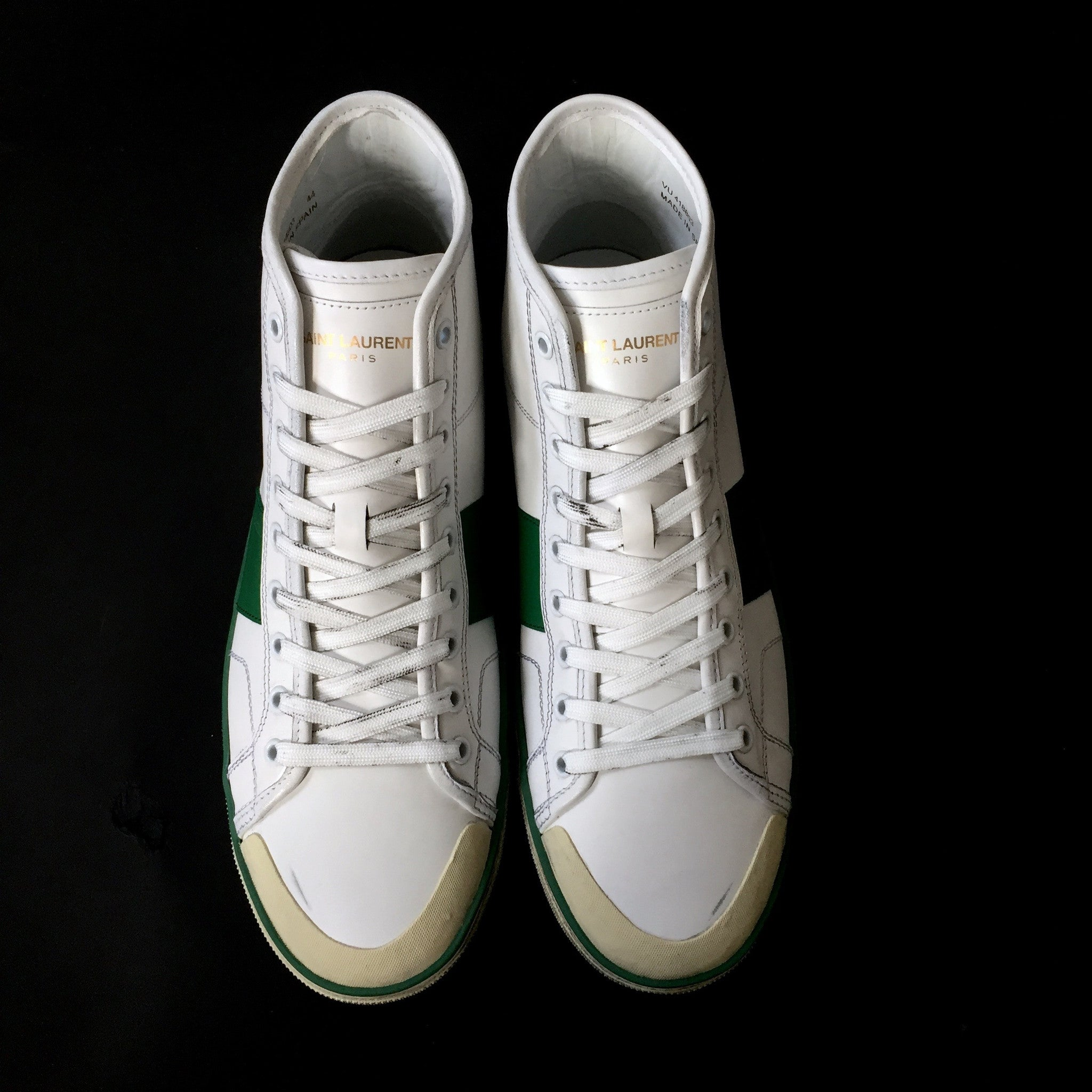 Saint Laurent Paris - SL / 37M Distressed Leather Sneakers