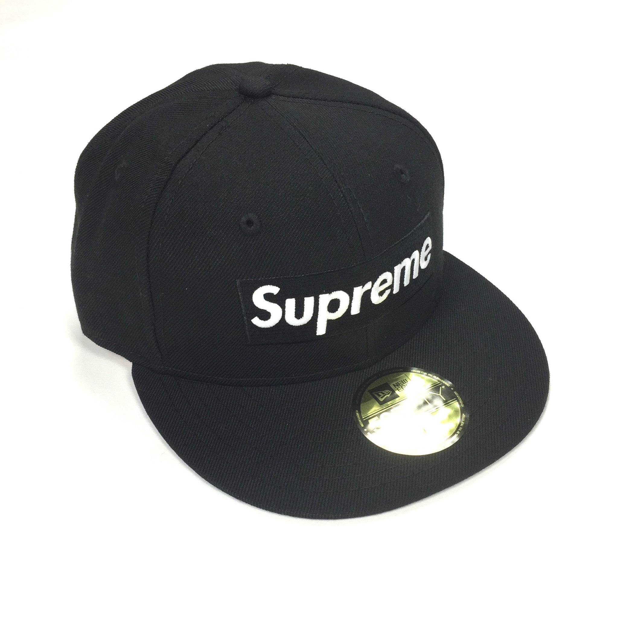 Supreme x New Era - SS17 Red Box Logo Piping Fitted 59FIFTY Hat ... e0a2b9f75972