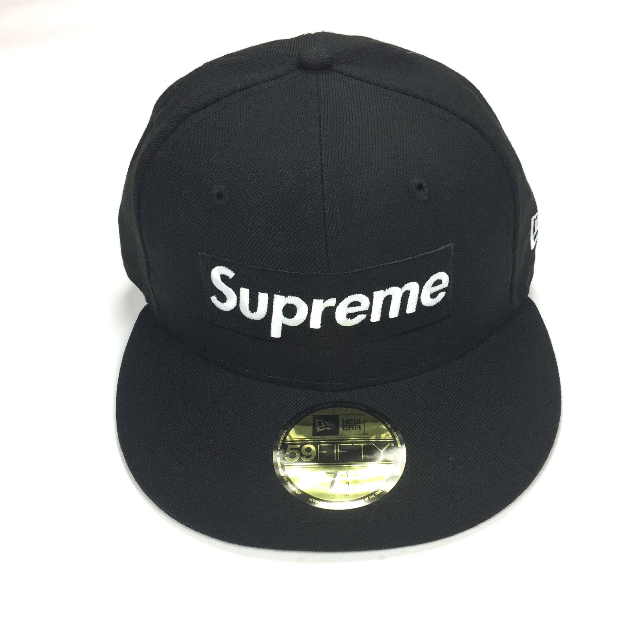 40bbad8d5f5 Supreme x New Era - SS17 Red Box Logo Piping Fitted 59FIFTY Hat ...