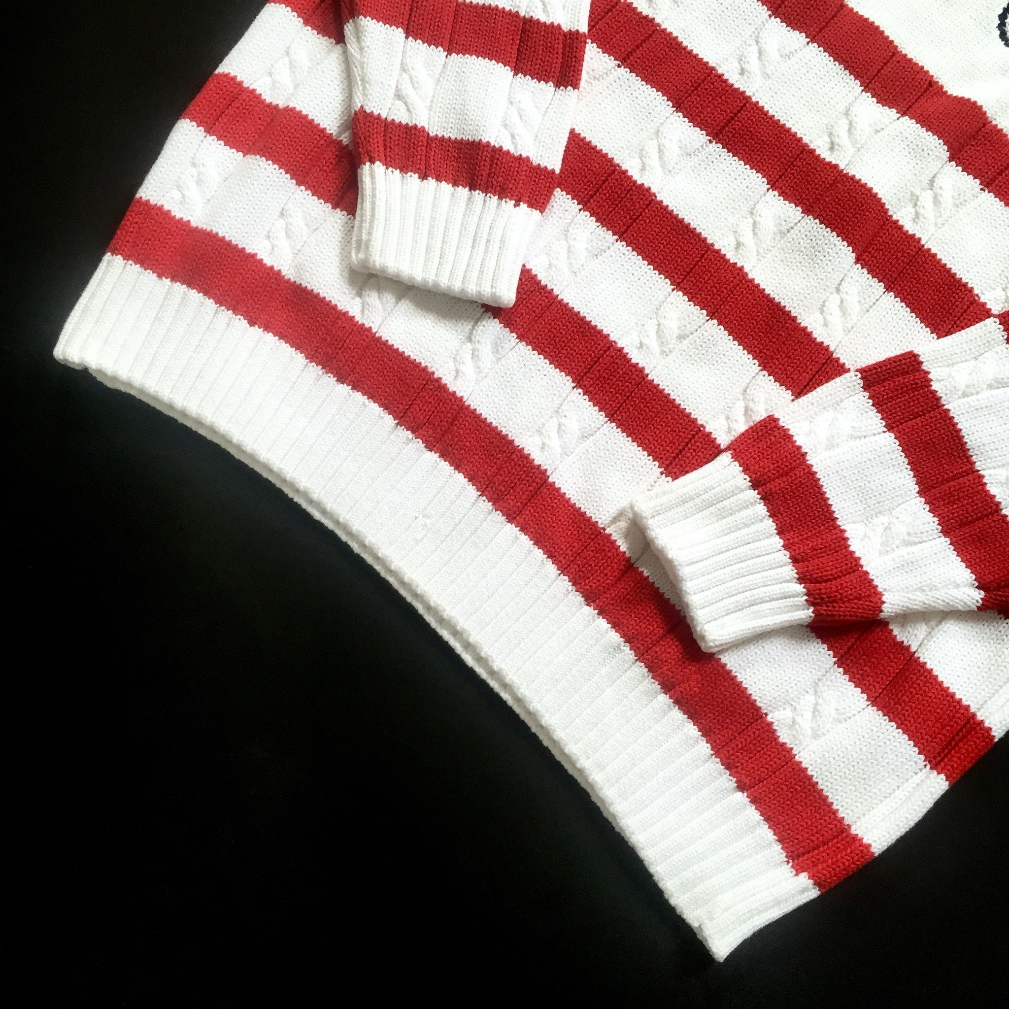 Dior - Red & White Nautical Sweater