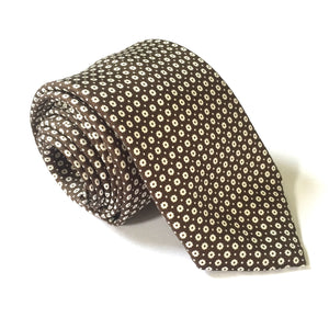 Corneliani - Brown Dotted Silk Tie