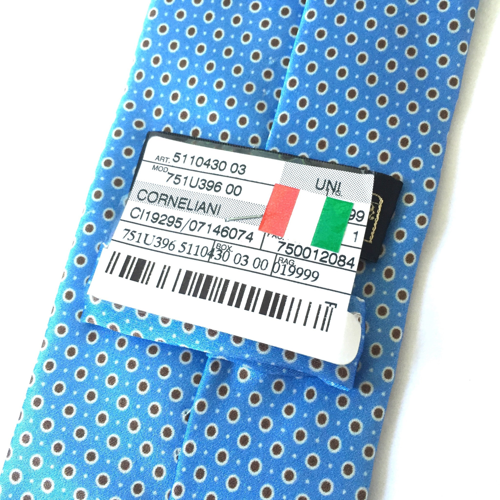 Corneliani - Light Blue Dotted Silk Tie