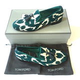 Tom Ford - Turquoise Jacquard Croc Tassel Loafers
