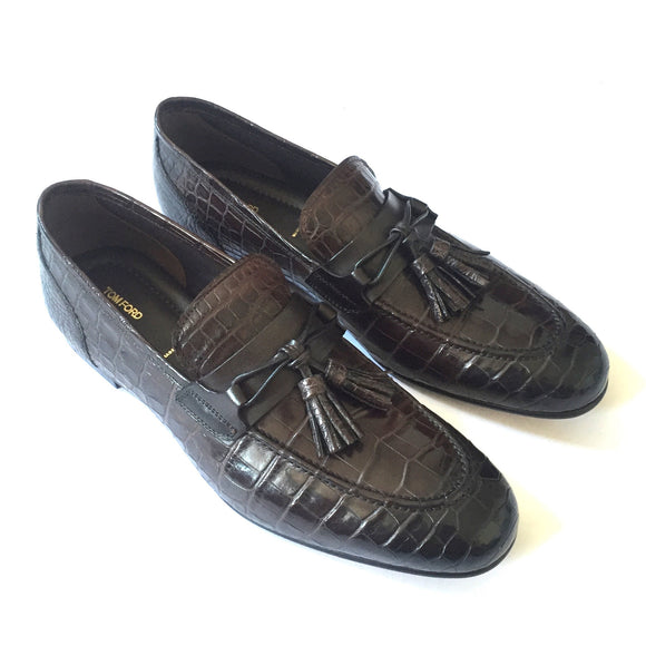 Tom Ford - Brown Genuine Crocodile Loafers