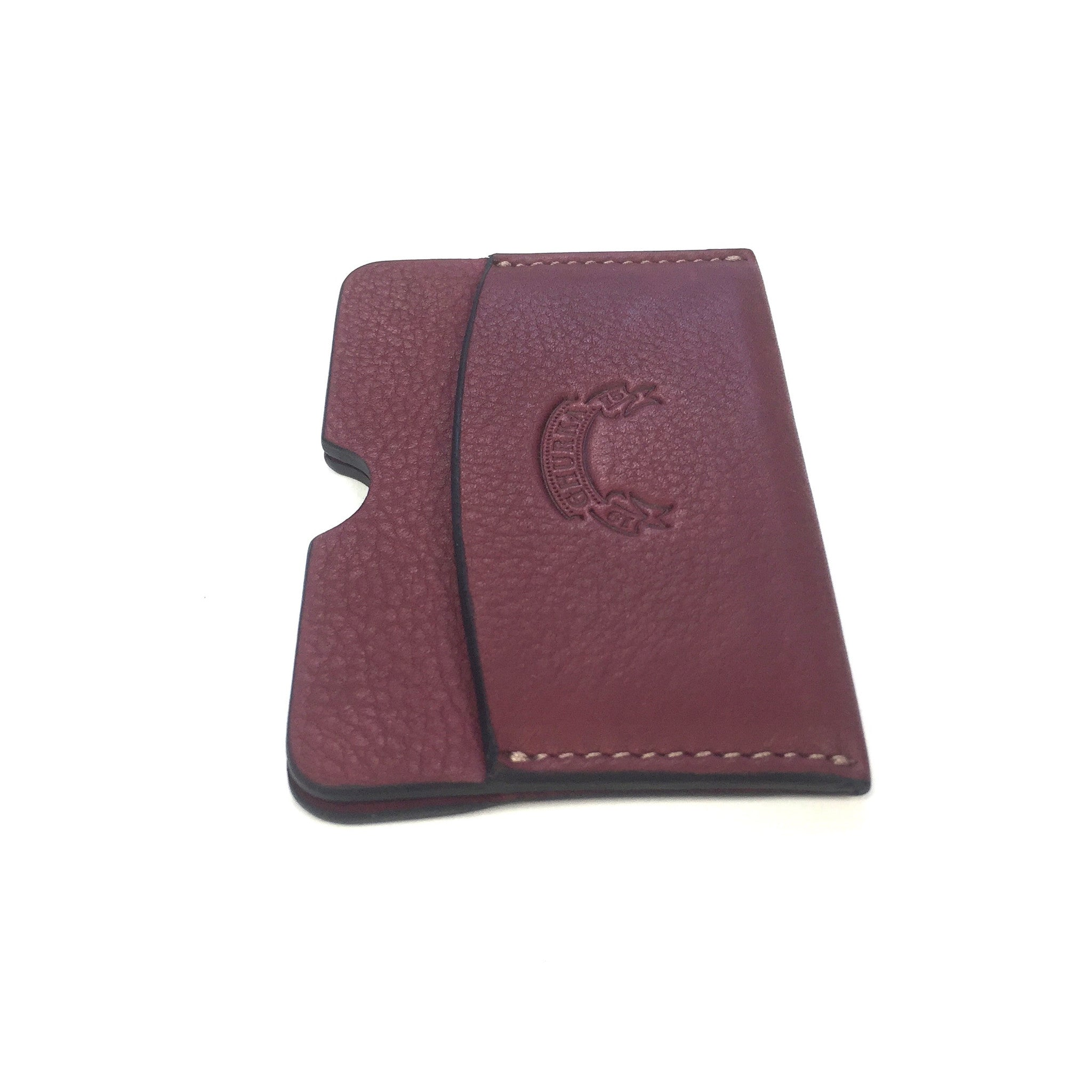 Ghurka - Tumbled Claret Leather Card Holder