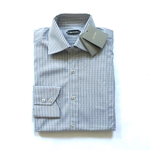 Tom Ford - Gray & White Check Dress Shirt