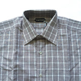 Tom Ford - Brown Glen Plaid Dress Shirt