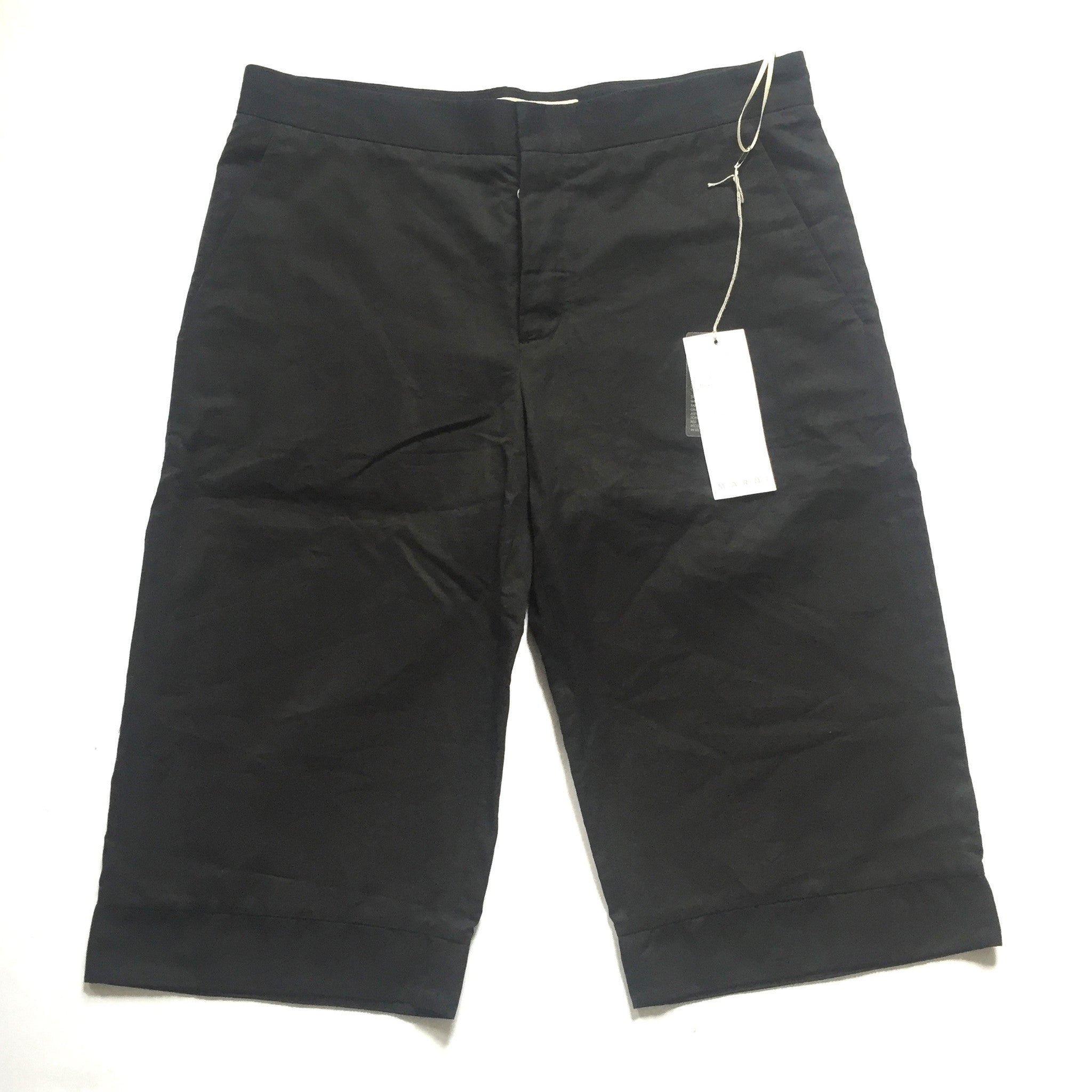 Marni - Oversized Black Cotton Shorts