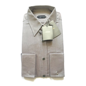 Tom Ford - Brown Basket Woven Dress Shirt