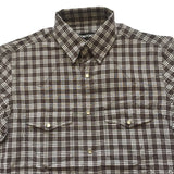 Tom Ford - Brown & White Plaid Western Shirt