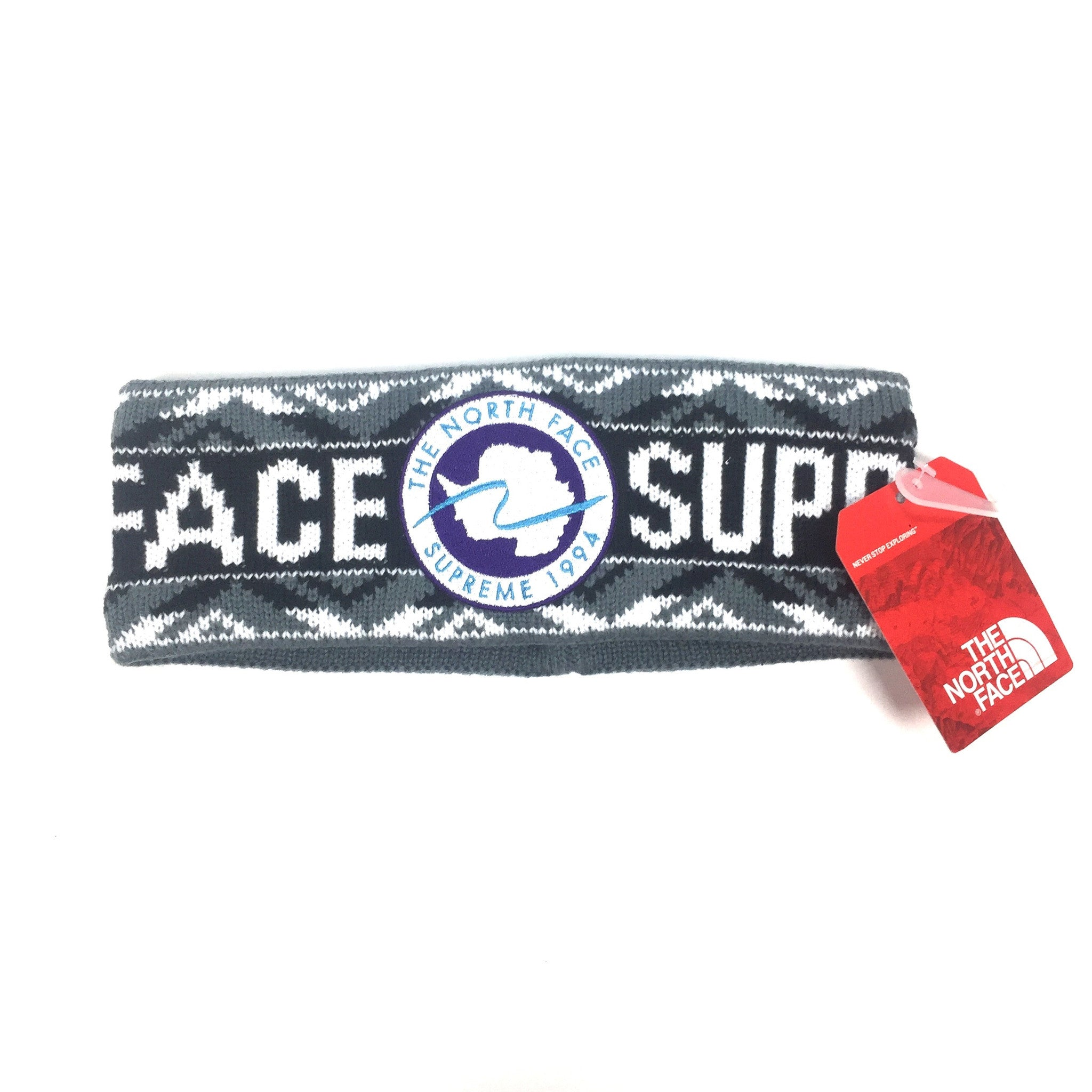Supreme x The North Face - Black Logo Knit Headband