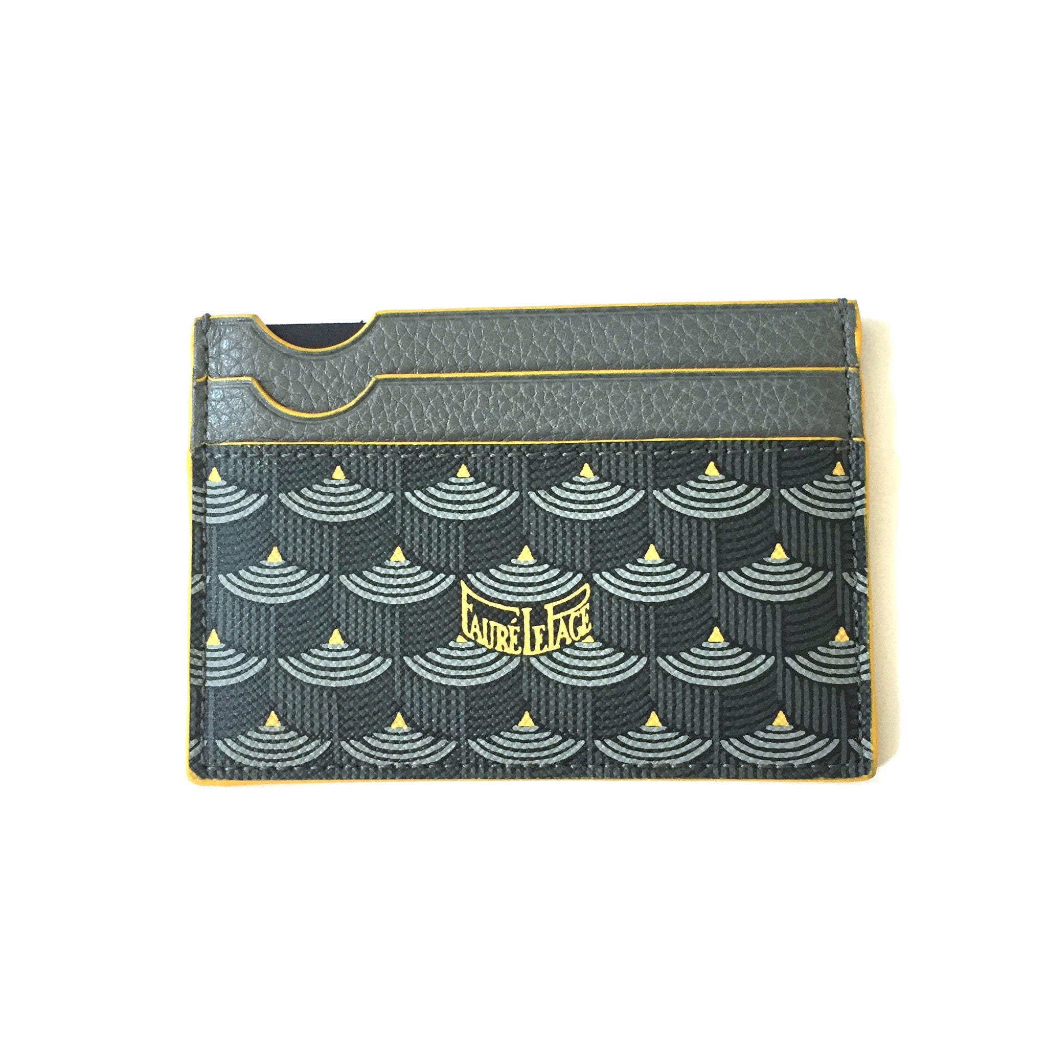 Faure Le Page - Steel Gray / Yellow 4CC Card Holder
