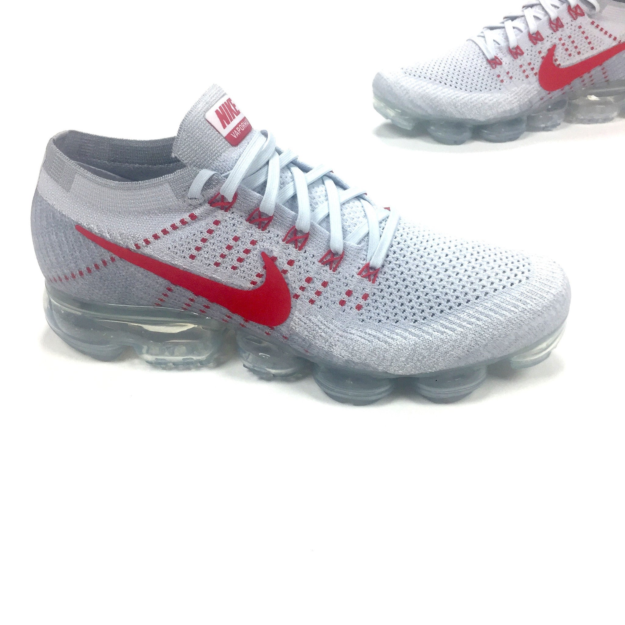 67db7751151 Nike - Men s Air Vapormax Flyknit OG Platinum   White   Red Sneakers ...
