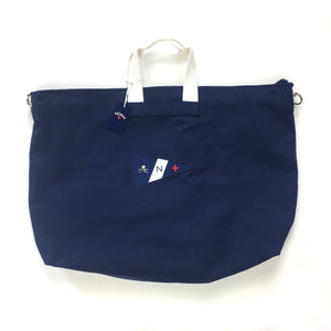 Noah - Navy Canvas Holdall Bag