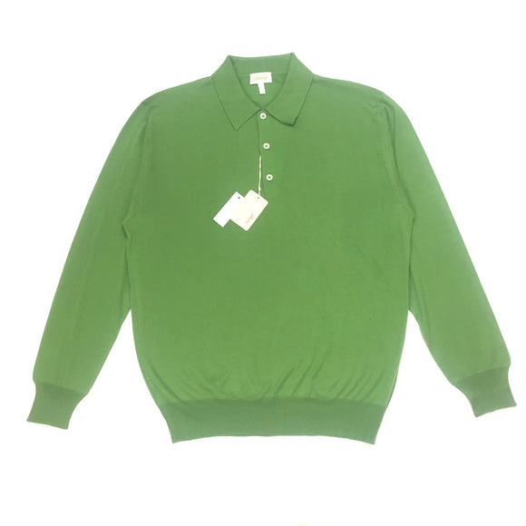 Brioni - Green Cashmere & Silk Polo Sweater