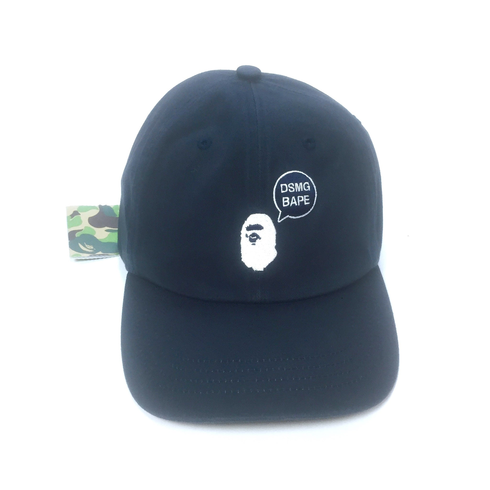 038d63319 A Bathing Ape x DSM Ginza - Navy Bape DSMG Logo Embroidered Dad Hat ...