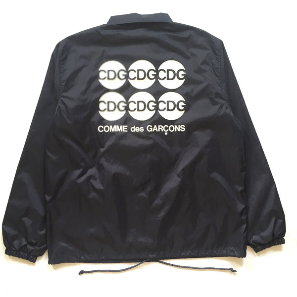 Comme Des Garcons - Navy Circle Logo Coach's Jacket