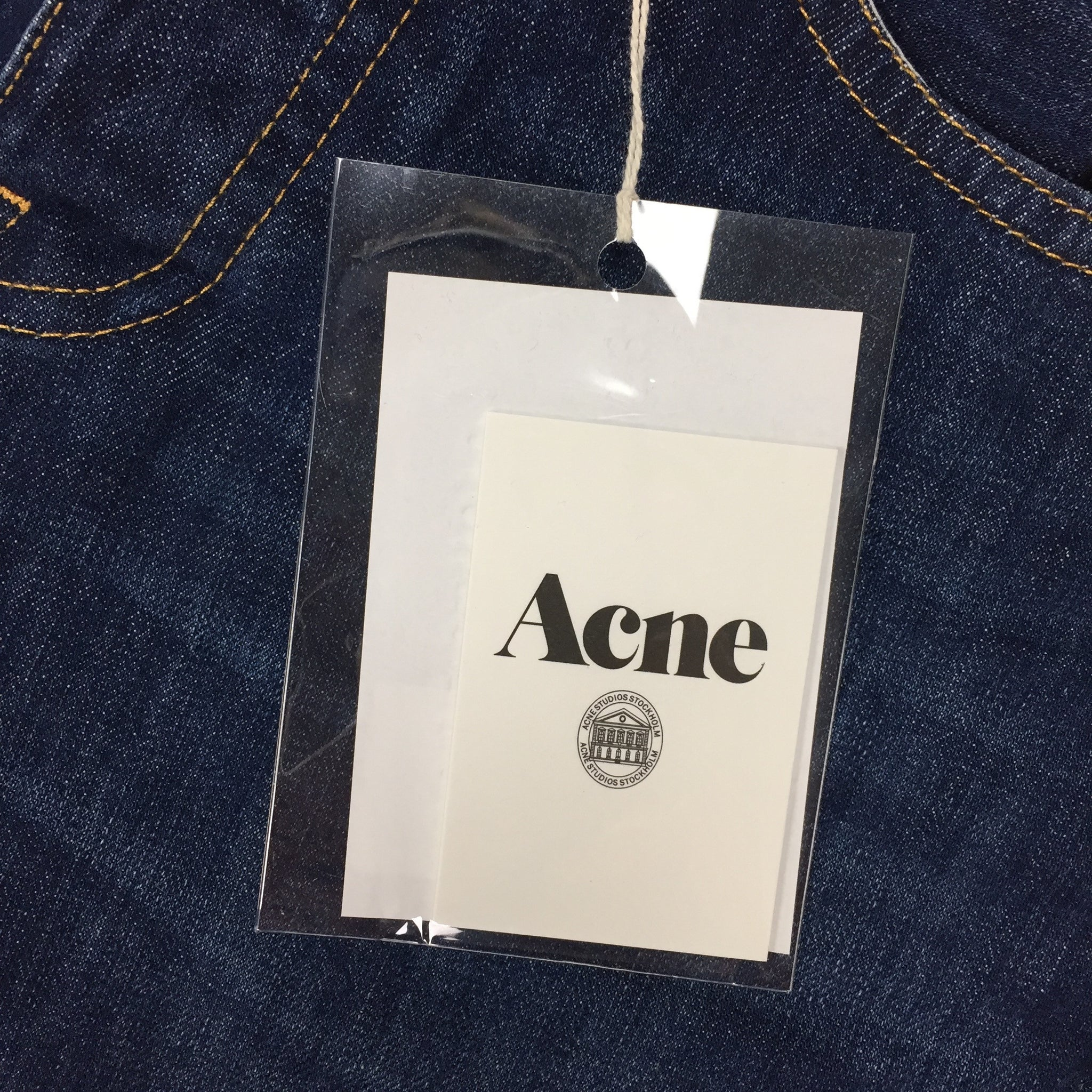 Acne - Dark Blue 'Roc' Denim Jeans