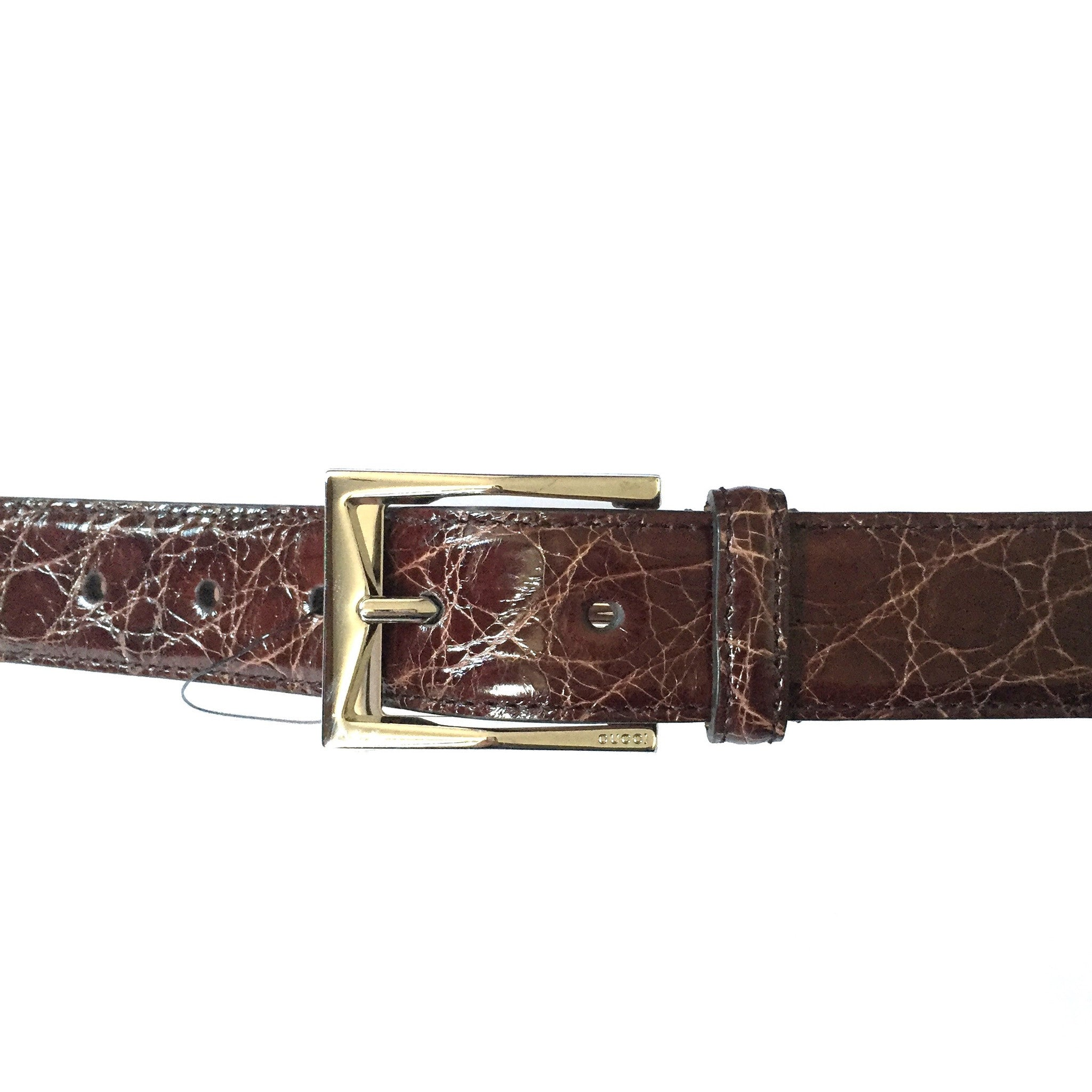 Gucci - Brown Genuine Crocodile Belt