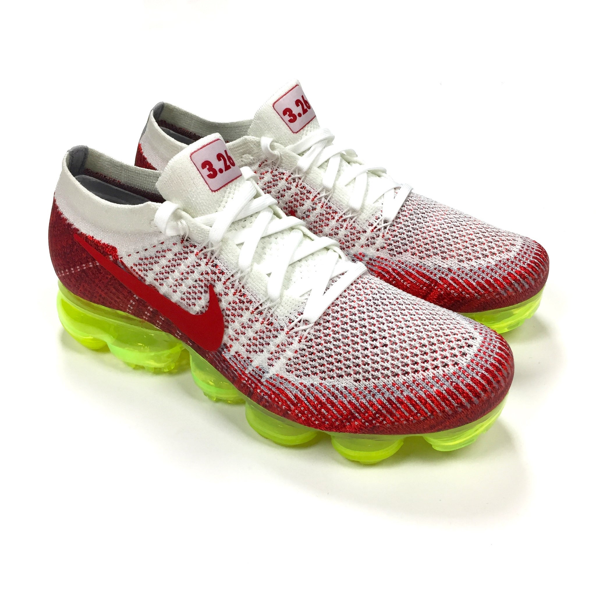 low priced 51e6f bbcd1 Nike - Men's Air Vapormax Flyknit AMD17 White / Red / Volt ...