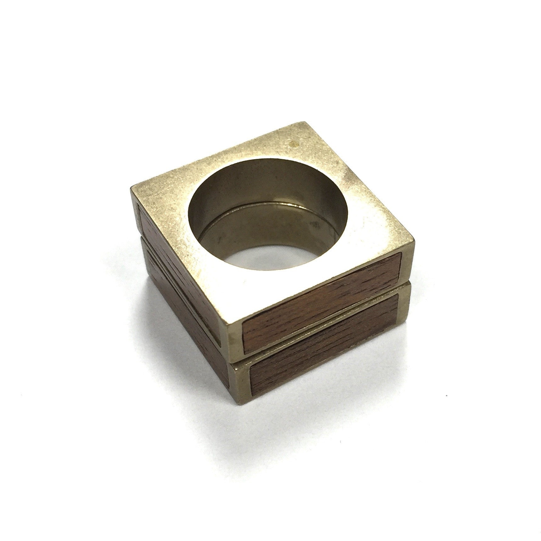 Maison Margiela - Hinged Wood & Brass Ring