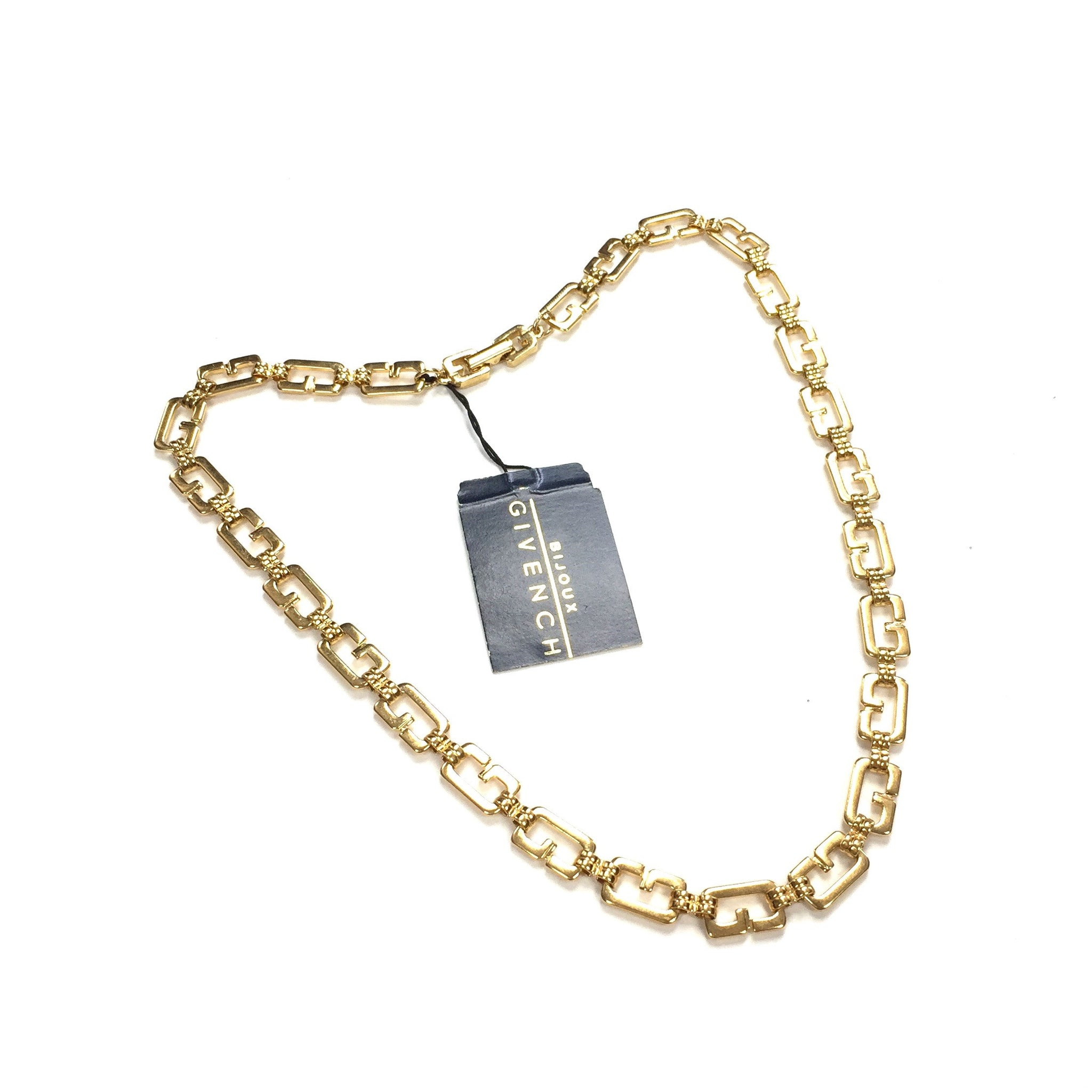 "Givenchy - 18"" Gold Logo Chain Necklace"