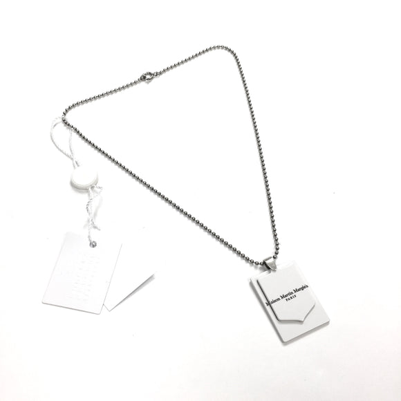 Maison Margiela - Hinged Logo Tag Pendant Necklace