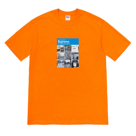 Supreme - Verify Captcha Logo T-Shirt (Orange)