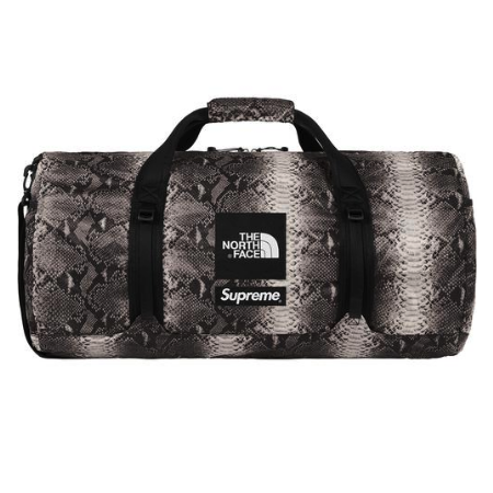 Supreme x The North Face - Snakeskin Print Packable Duffle Bag (Black)