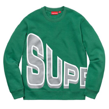 Supreme - Side Arc Logo Crewneck Sweatshirt (Pine Green)