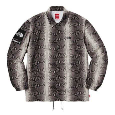 Supreme x The North Face - Snakeskin Print Coach's Jacket (Black)