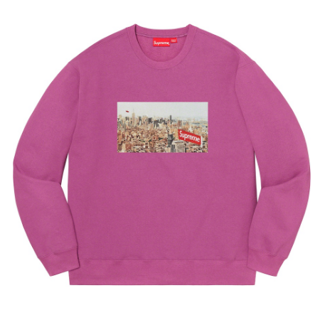 Supreme - Aerial Box Logo Crewneck Sweatshirt (Purple)