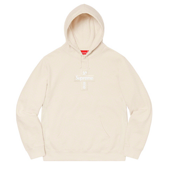 Supreme - Cross Box Logo Hoodie (Natural)