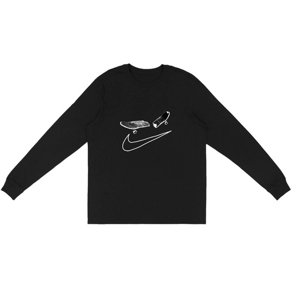 Nike x Travis Scott - SB Smile Logo L/S T-Shirt (Black)