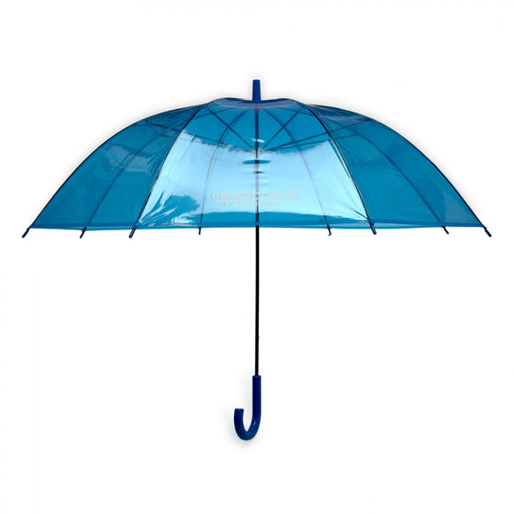 Undercover - Logo Print Transparent Umbrella (Blue)