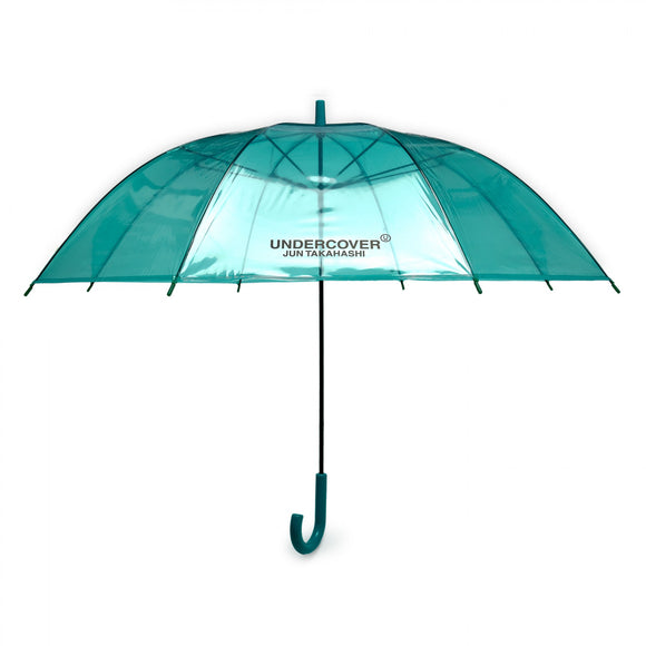Undercover - Logo Print Transparent Umbrella (Green)