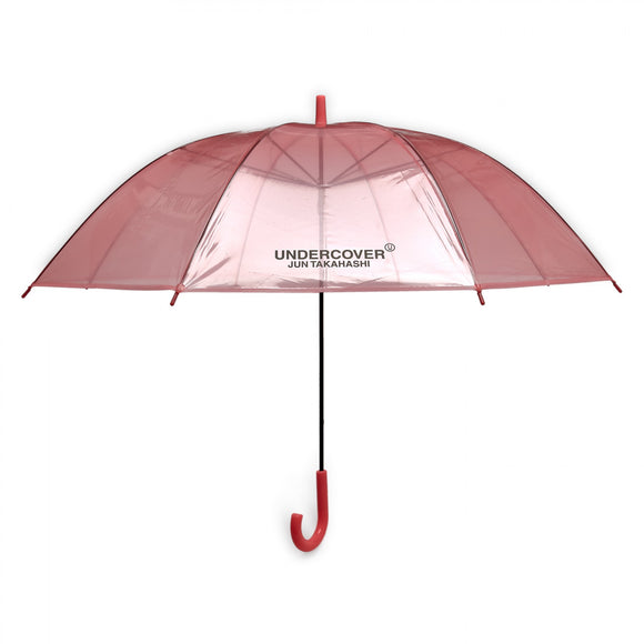 Undercover - Logo Print Transparent Umbrella (Pink)
